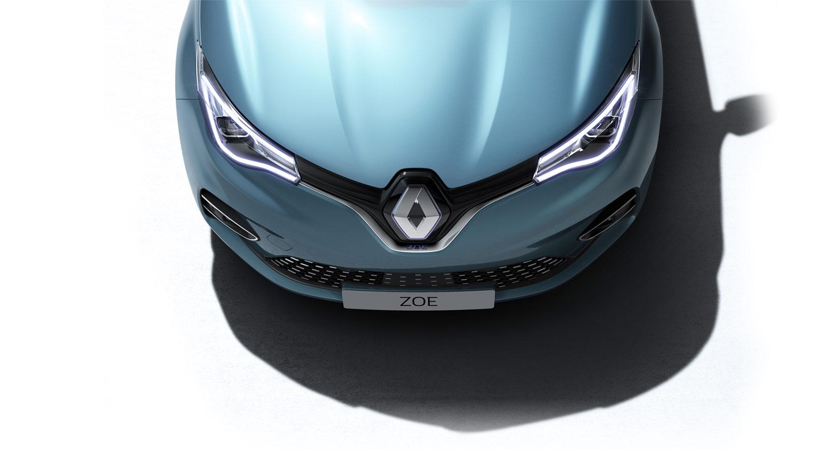 Bilde av nye Renault ZOE sett ovenifra